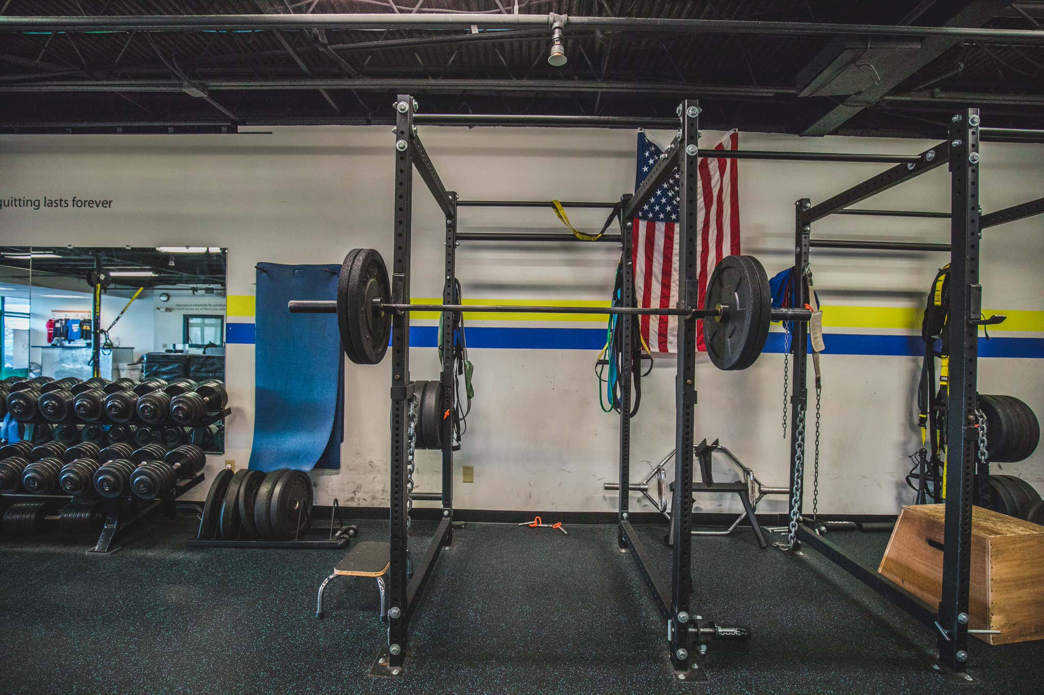 full size barbell rack